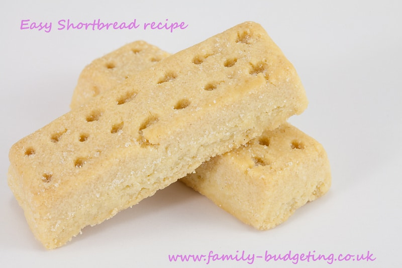 Simple shortbread, frugal homemade gift ideas