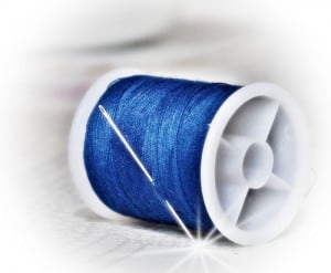 blue cotton reel