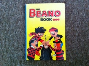 beano annual, family budgeting, car boot sales, car boot booty, classic comic