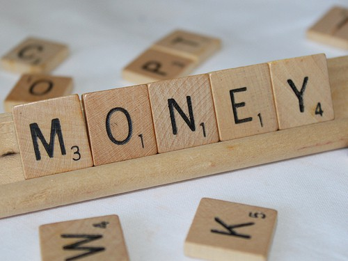 scrabble money, money letters, money quote, lending money, avoid Christmas credit hangover
