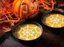 Halloween recipe, spooky soup, pumpkin soup