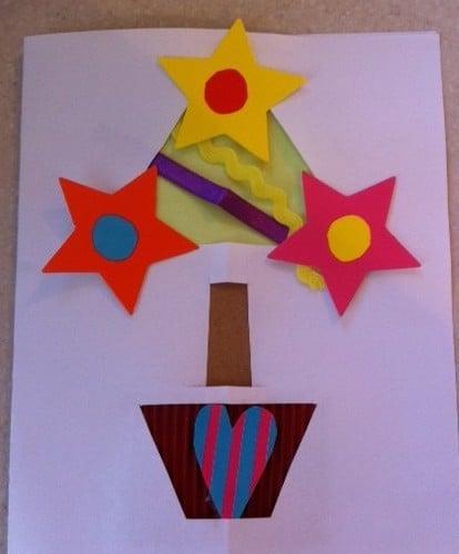 handmade christmas card, easy handmade christmas card