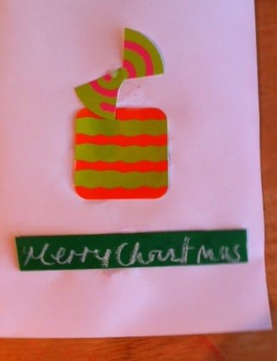 handmade gift themed card