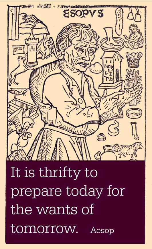 Aesop thrifty quote