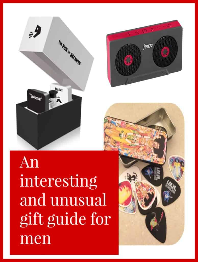 An interesting and unsual gift guide for men