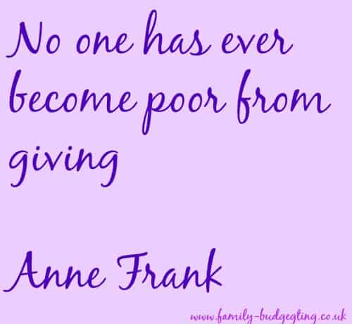Anne Frank Quote, Anne Frank on Giving