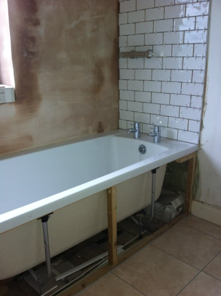 Then The Bathroom Installers Came And Put On The Bath Panels, Changed The  Taps, Put Up The Cupboards And Fixed The Shower And The Shower Rail.