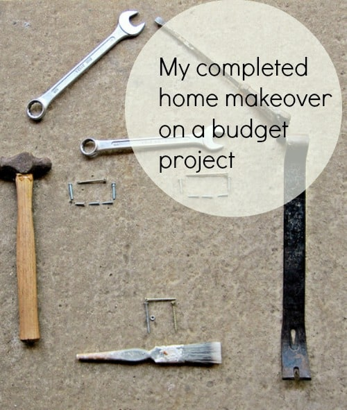 My completed home makeover on a budget project family for Home makeovers on a budget