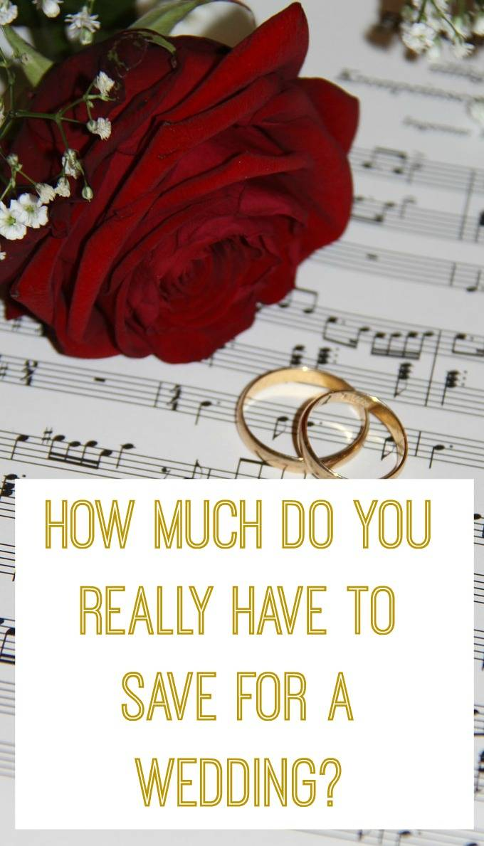 How much do you really have to save for a wedding