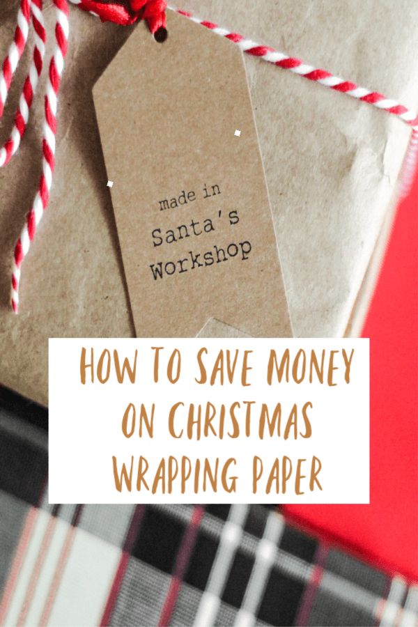 how to save money on christmas wrapping paper