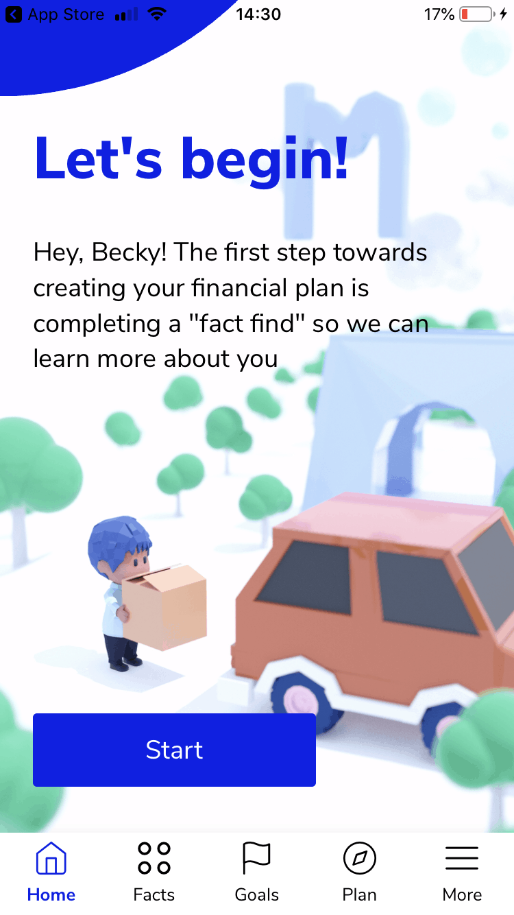 Multiply a financial plan in an app