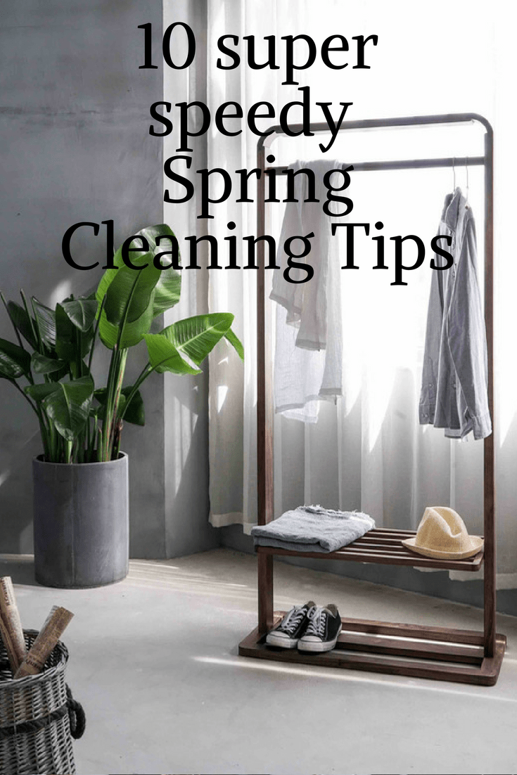 Speedy spring cleaning tips