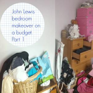John Lewis bedroom makeover part 1