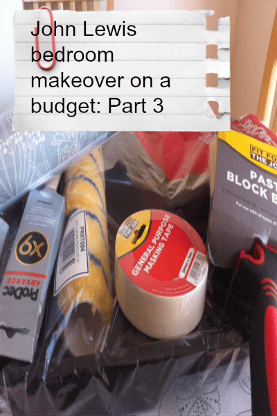 John lewis bedroom makeover on a budget part 3