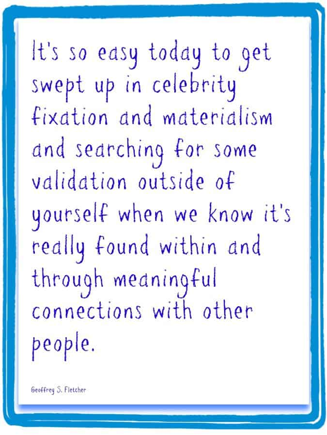 Materialism and celebrity fixation