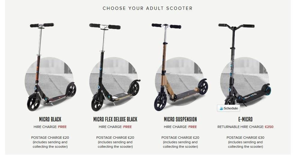 Adult Micro Scooters you can try before you buy, adult micro scooters