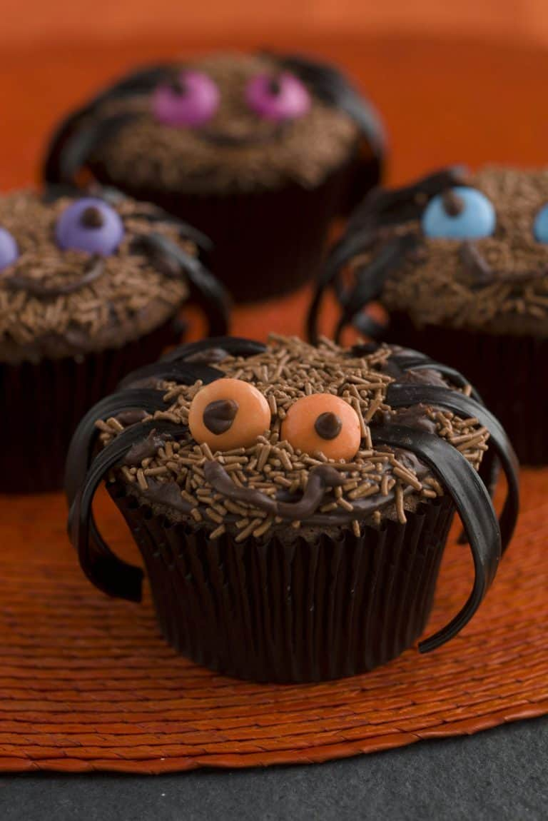 Free Halloween Fun, spider cakes, spider cupcakes