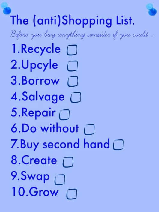 the-anti-shopping-list, Savvy Ways to Shop, anti shoppping list