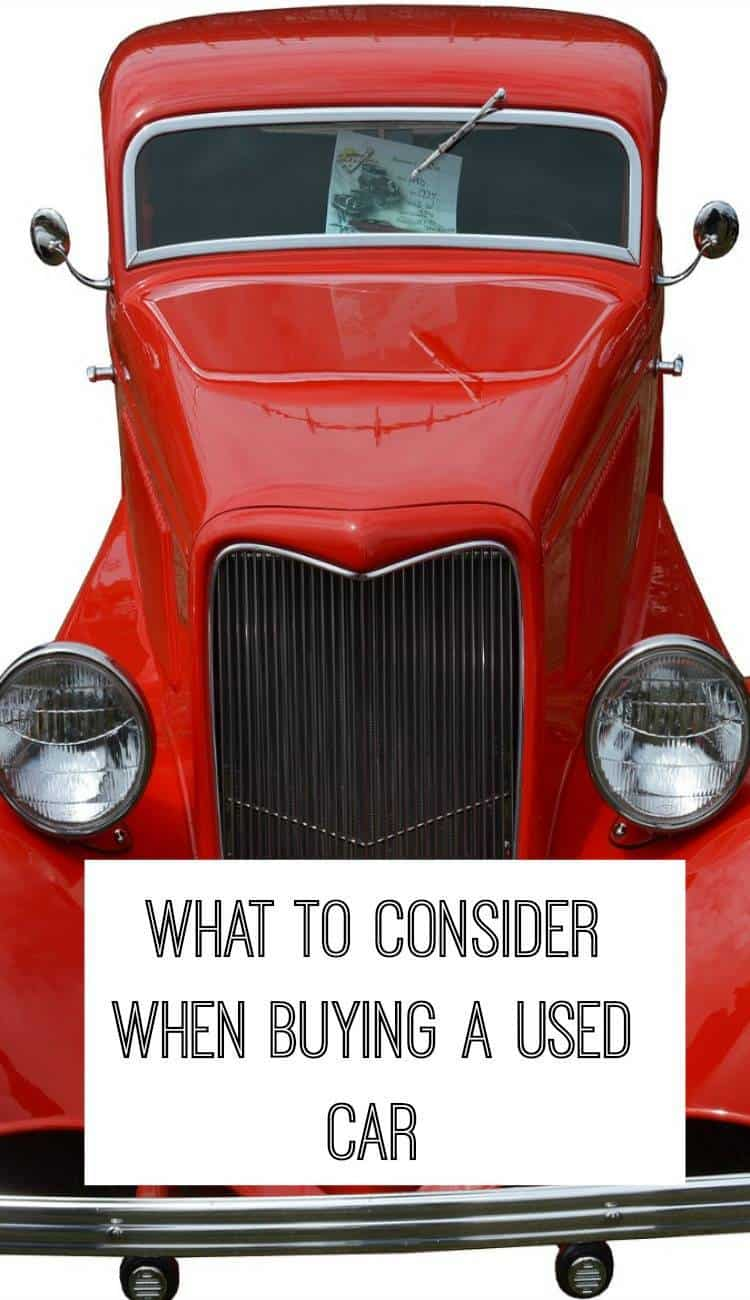 consider when buying a used car