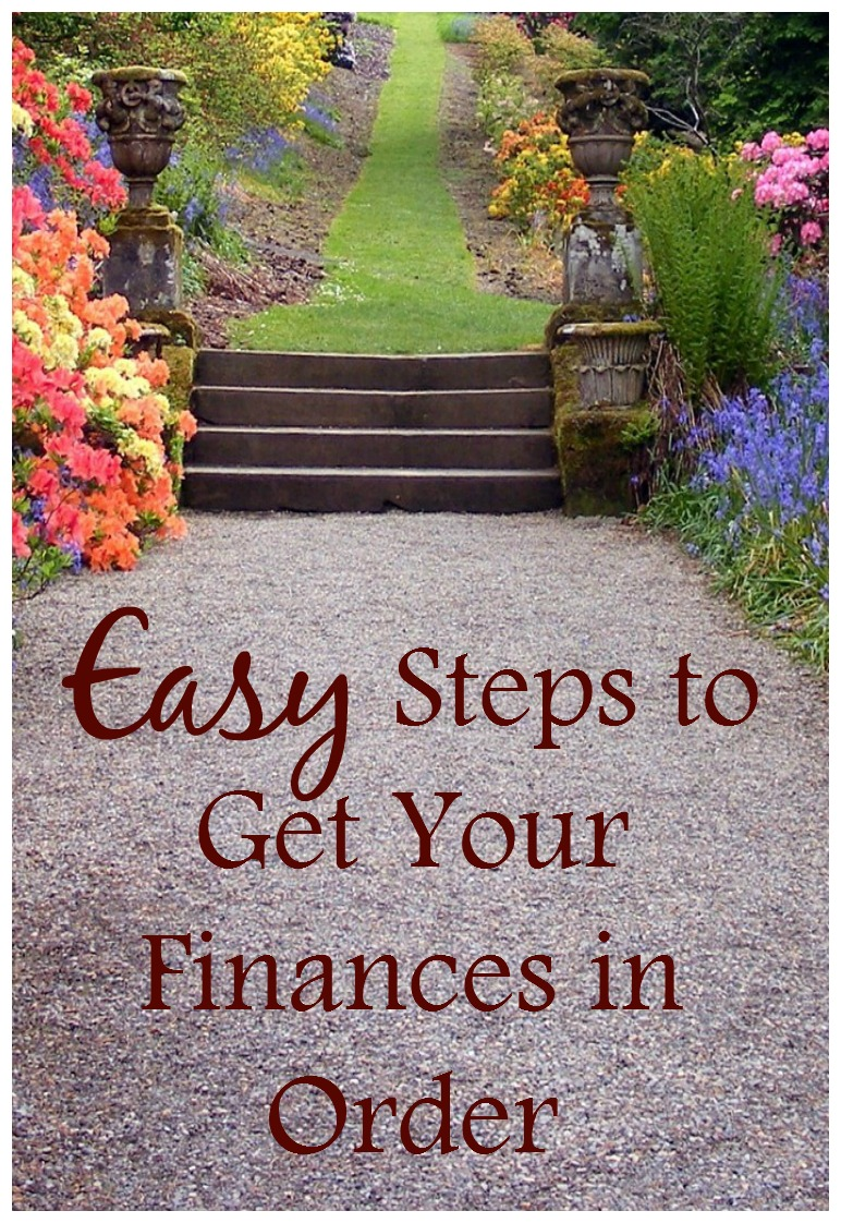 easy steps to get your finances in order