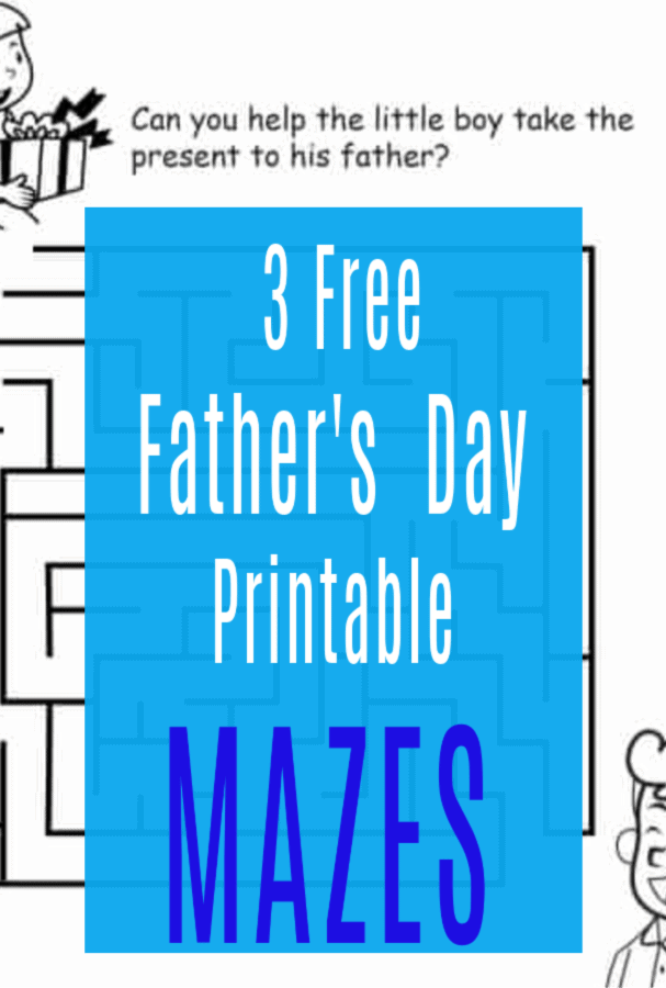 fathers day printable maze
