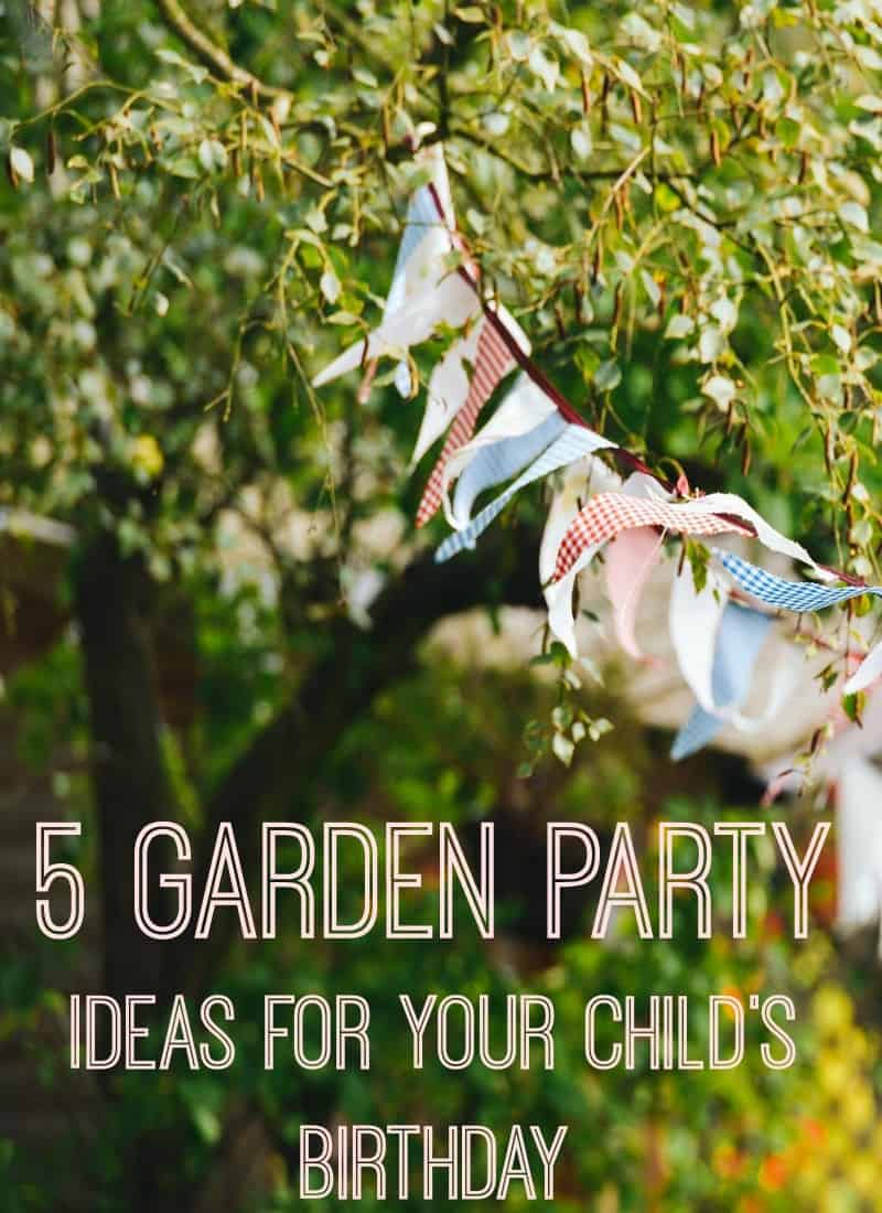 Some lovely garden party ideas for a child's birthday. Home is often the least stressful way to host a child's birthday party and the most thrifty way to throw a kids party
