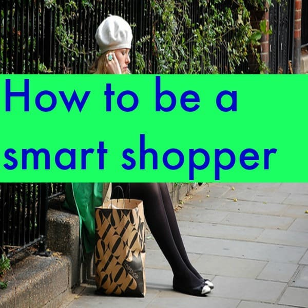 how to be a smart shopper