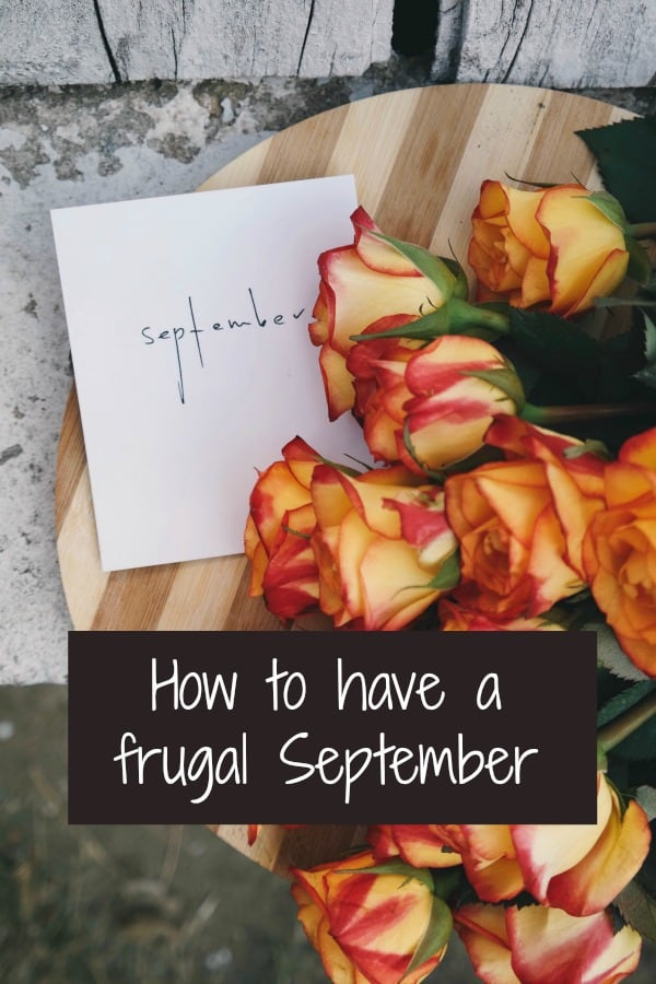 How to have a frugal September
