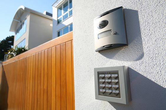 call box and digitally coded gate lock for new house, Home Security Trends