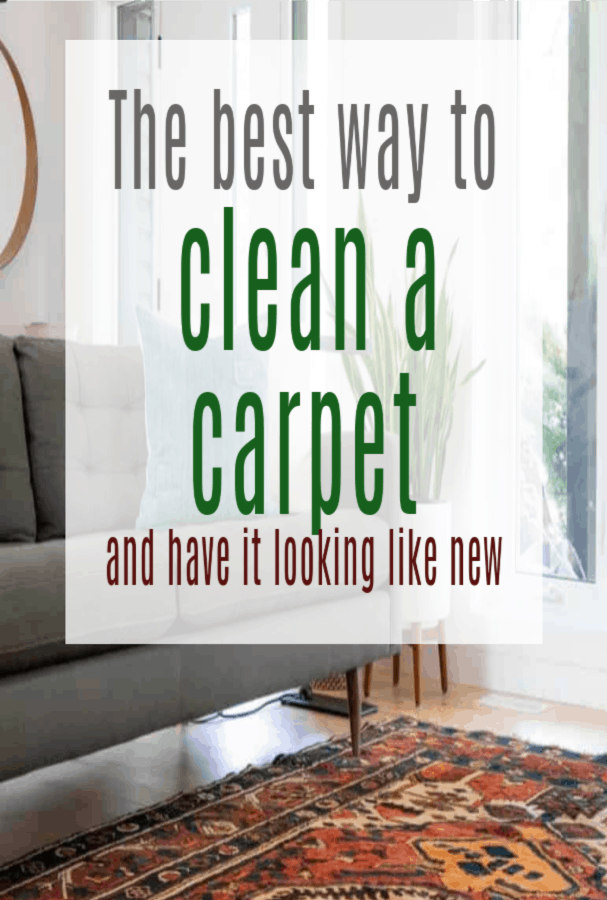 THE BEST METHOD TO CLEAN OUT CARPETS