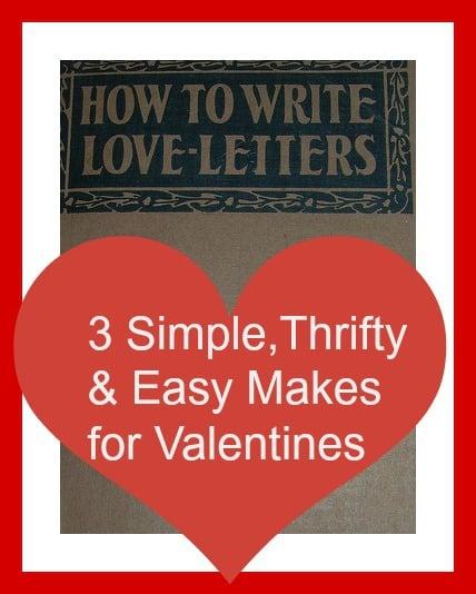 loveletters, easy makes for valentines