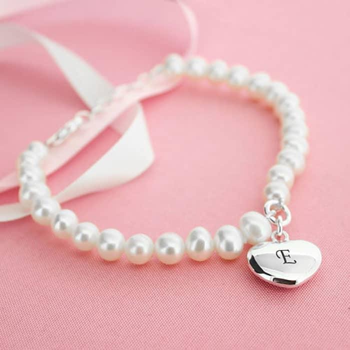personalised pearl bracelet