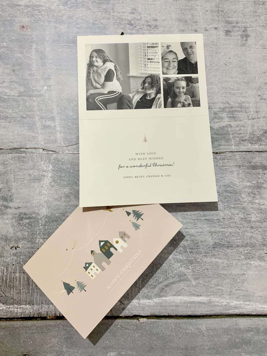 personalised Christmas Cards from Rosemood