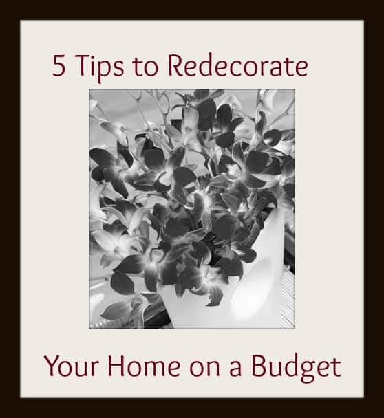 Tips on how to redecorate your home on a budget