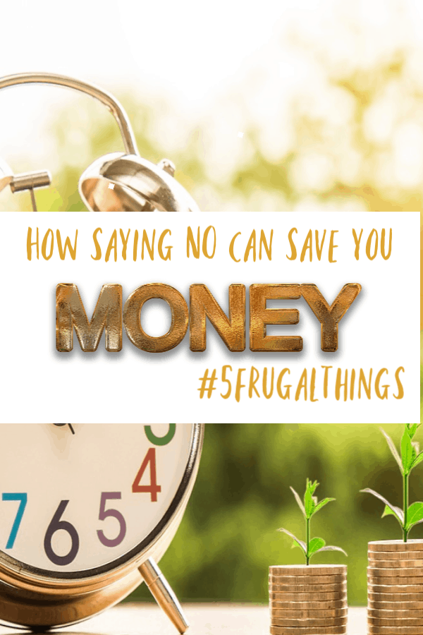 How saying no can save you money