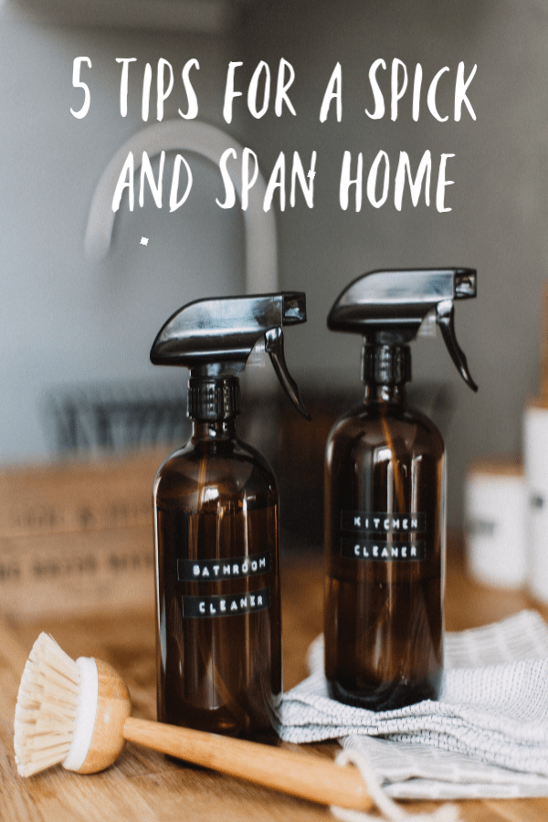 tips for a spick and span home