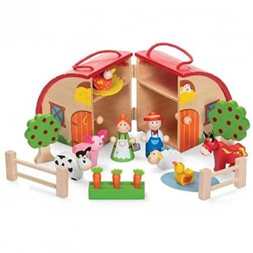 tobar wooden farm playset, best wooden toys