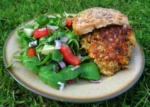 Quick and easy veggie burgers recipe