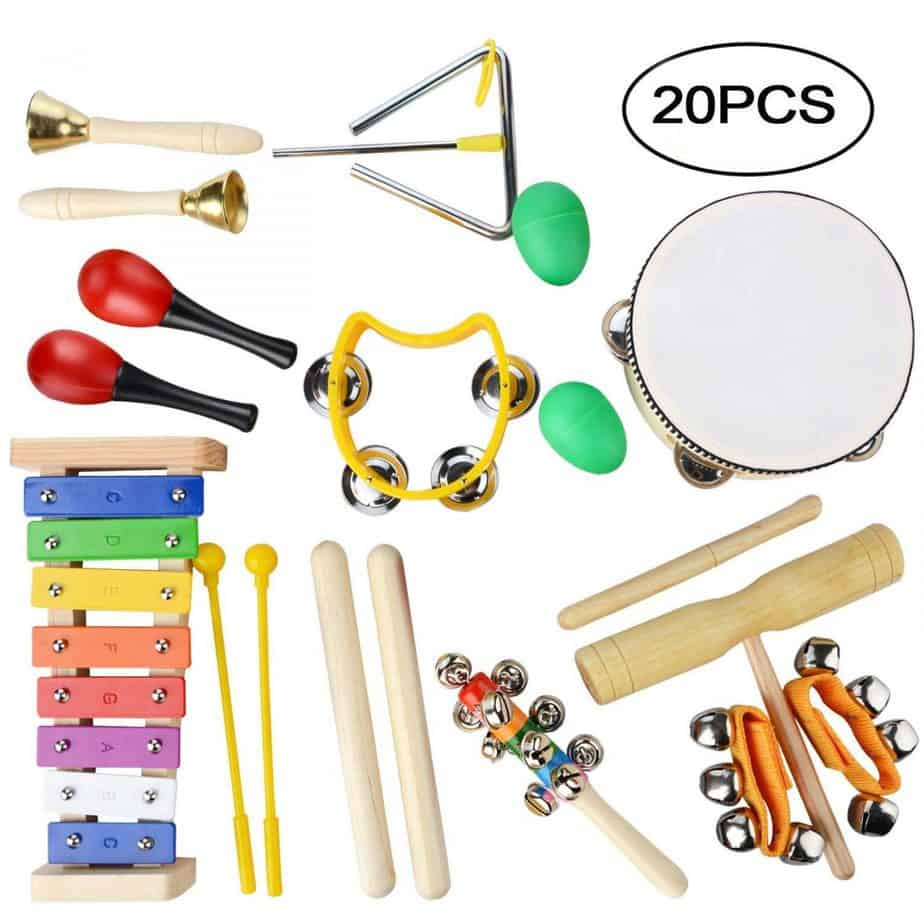 wooden percussion set, best wooden toys
